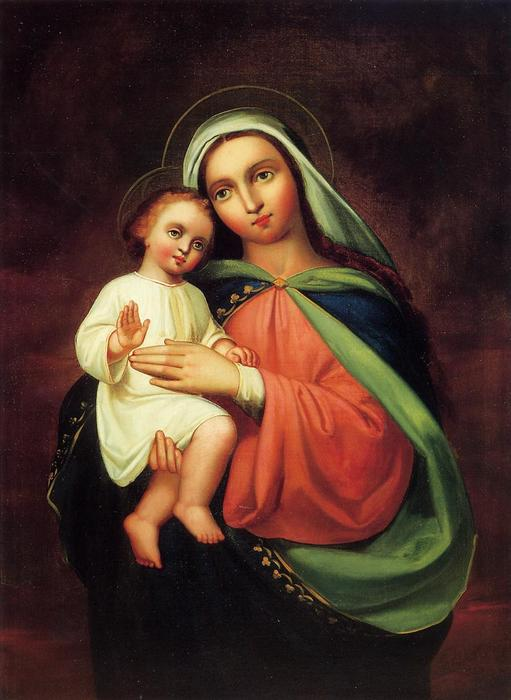 Order Reproductions | Madonna and Child, 1867 by Frank Duveneck (1848-1919, United States) | ArtsDot.com