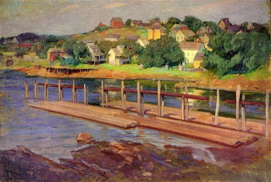 Small Boat Landing, Oil On Canvas by Frank Duveneck (1848-1919, United States)
