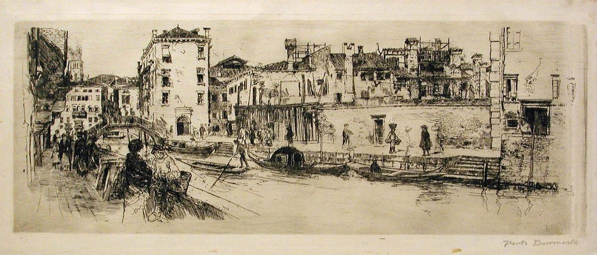 The San Travasso Canal by Frank Duveneck (1848-1919, United States)