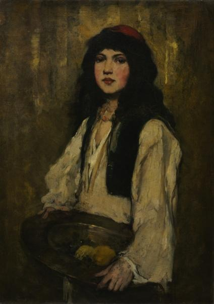 The Venetian Girl by Frank Duveneck (1848-1919, United States)