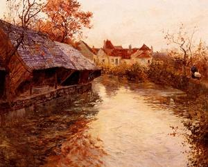 Frits Thaulow - A Morning River Scene