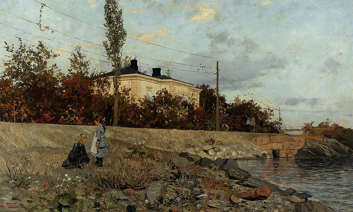Evening at the Bay of Frogner, 1880 by Frits Thaulow (1847-1906, Norway) | ArtsDot.com