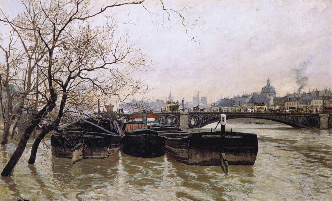 Flooding by the Seine, 1893 by Frits Thaulow (1847-1906, Norway) | ArtsDot.com