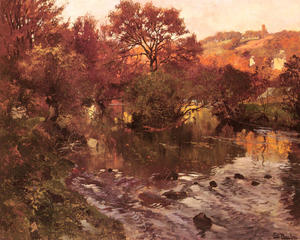 Frits Thaulow - Golden Autumn, Brittany