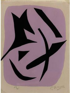 Georges Braque - A Straight Black