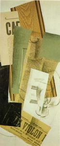 Georges Braque - Bottle And Glass (Le Violan)