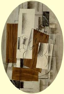 Georges Braque - Violin and Glass