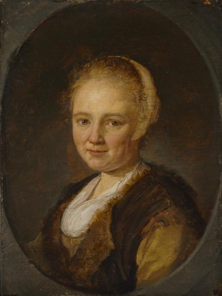 Order Museum Quality Reproductions : A Young Woman by Gerrit (Gérard) Dou (1613-1675, Netherlands) | ArtsDot.com