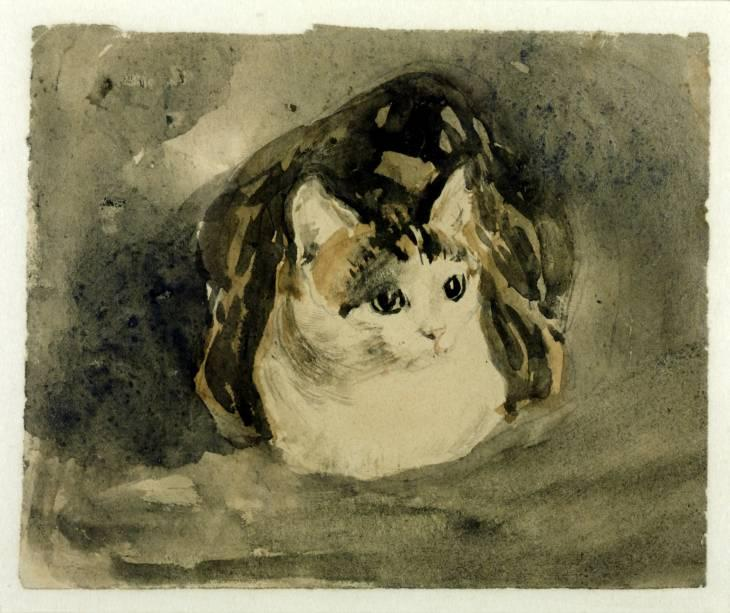 Cat by Gwen John (1876-1939, United States)