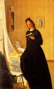 Gwen John - Girl Reading at the Windo..