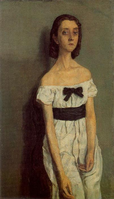 Girl with Bare Shoulders by Gwen John (1876-1939, United States)