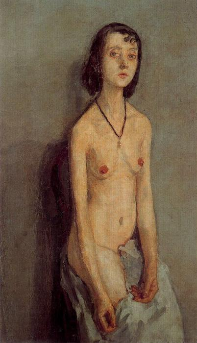 Nude Girl by Gwen John (1876-1939, United States)
