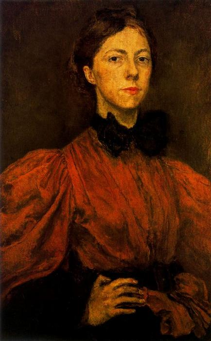 Self-portrait 1 by Gwen John (1876-1939, United States)