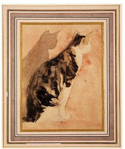 Gwen John - Sketch of a seated cat