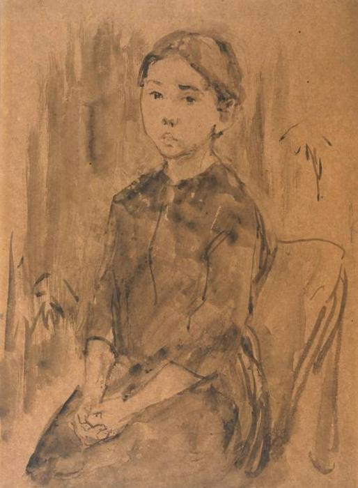 Study of a Child by Gwen John (1876-1939, United States) | Oil Painting | ArtsDot.com