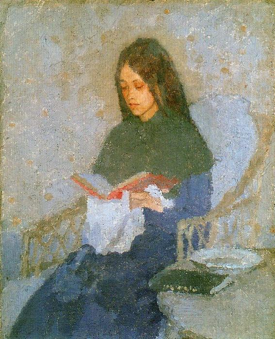 The precious Book by Gwen John (1876-1939, United States) | Oil Painting | ArtsDot.com