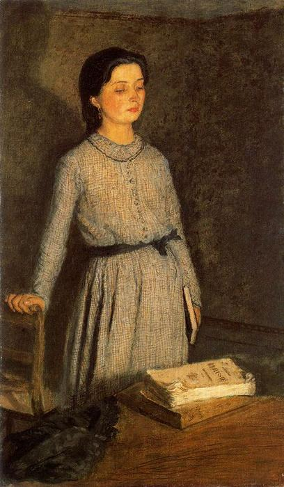 The Student by Gwen John (1876-1939, United States)