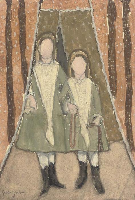 The Victorian Sisters by Gwen John (1876-1939, United States) | Art Reproduction | ArtsDot.com
