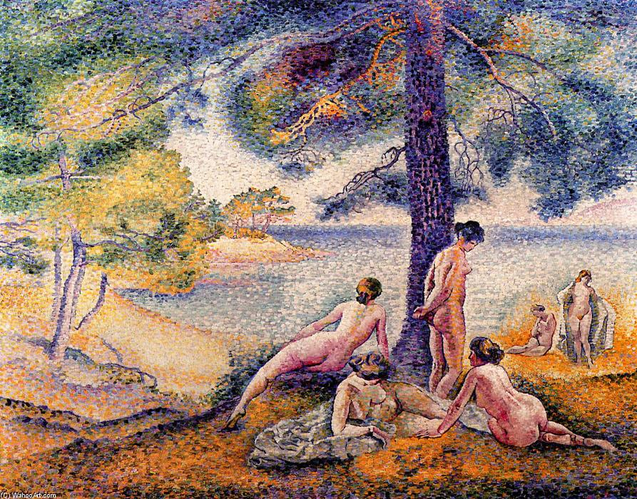A Place in the Shade, Oil On Canvas by Henri Edmond Cross (1856-1910, France)