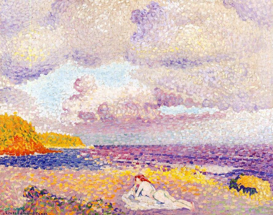 Before the Storm (aka The Storm) by Henri Edmond Cross (1856-1910, France)