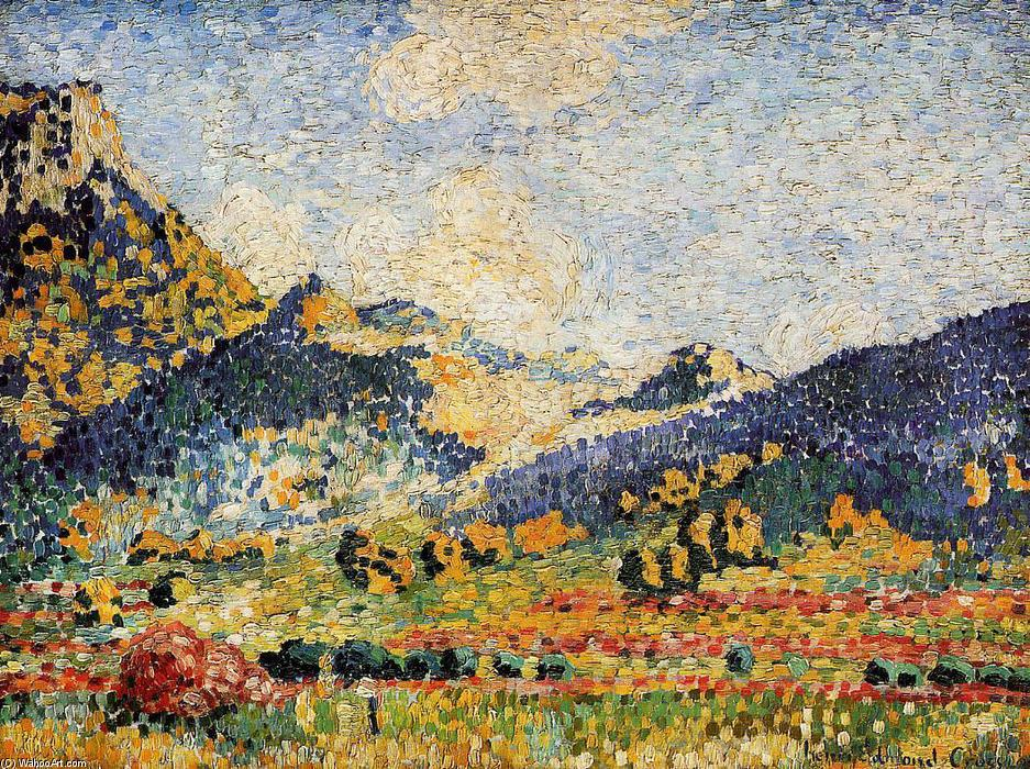 Les Petits, Montagnes Mauresques, Oil On Canvas by Henri Edmond Cross (1856-1910, France)