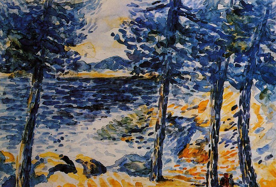 Pines by the Sea, Watercolour by Henri Edmond Cross (1856-1910, France)