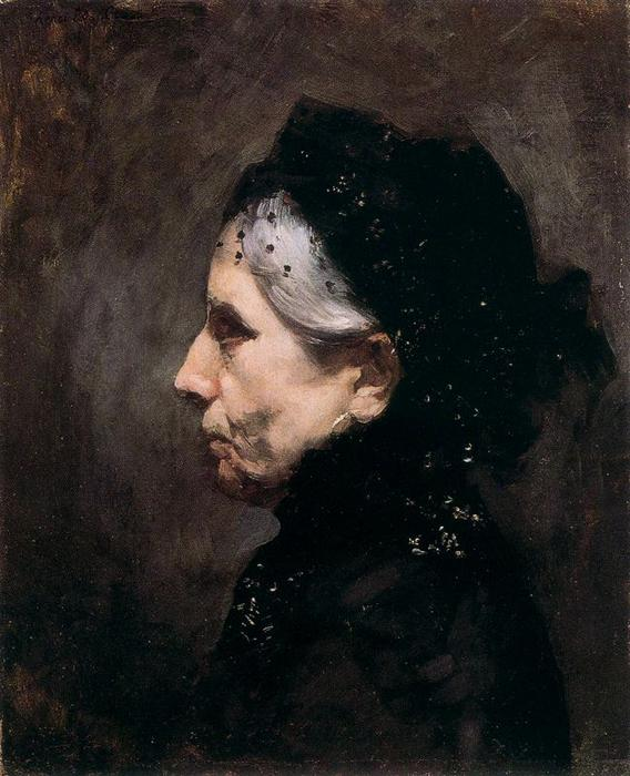 Portrait de Mme. Delacroix, mère de l'artiste by Henri Edmond Cross (1856-1910, France)