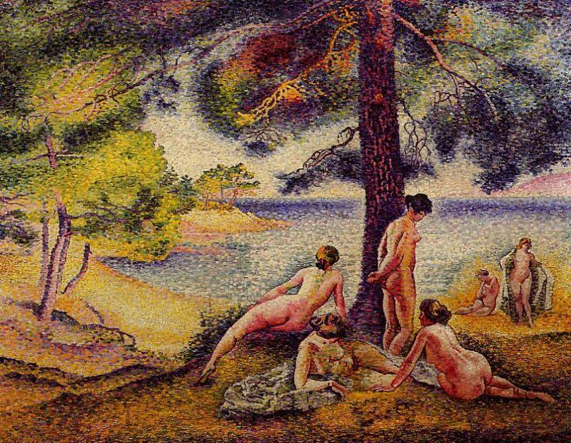 The Shady Beach by Henri Edmond Cross (1856-1910, France)