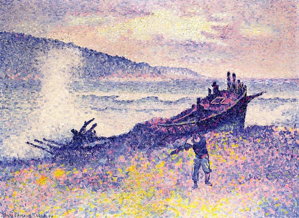 The Wreck, Oil On Canvas by Henri Edmond Cross (1856-1910, France)