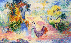 Henri Edmond Cross - Woman in a Park