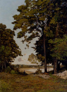 Henri-Joseph Harpignies - A Summer's Day On The Ban..