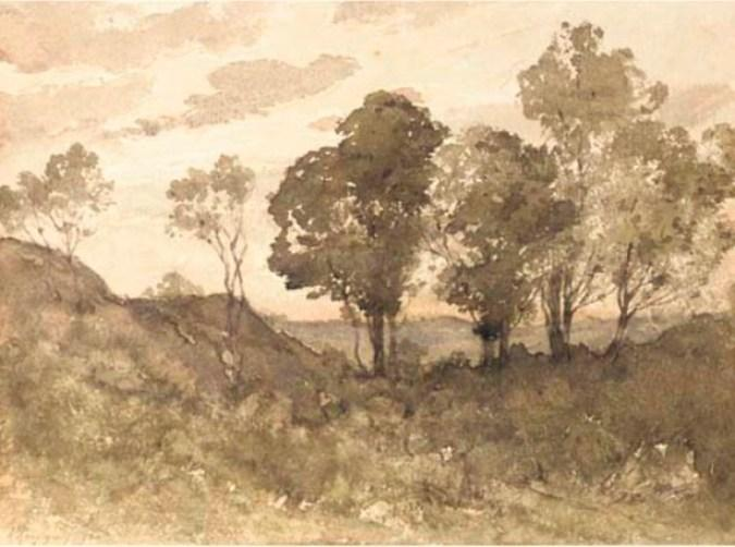 A wooded landscape 1 by Henri-Joseph Harpignies (1819-1916, France)