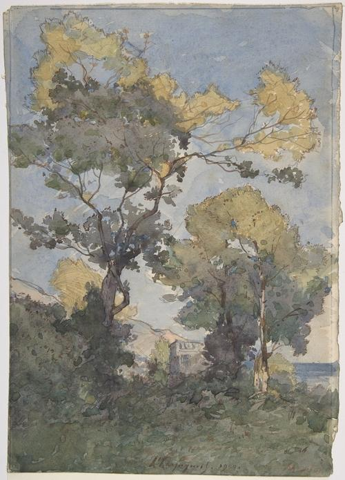 Landscape 2 by Henri-Joseph Harpignies (1819-1916, France)