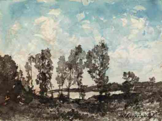 Landscape 3 by Henri-Joseph Harpignies (1819-1916, France)