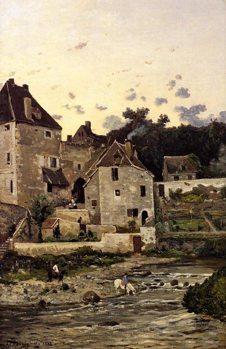 No title by Henri-Joseph Harpignies (1819-1916, France)