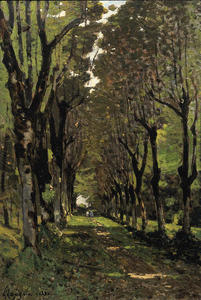 Henri-Joseph Harpignies - Path in the Park at Tremellérie