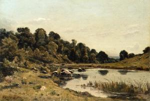 Henri-Joseph Harpignies - The Banks of the Aumance
