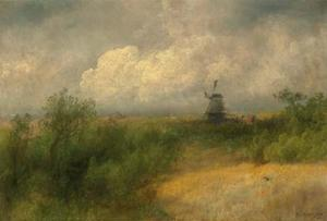 Herman Herzog - Landscape with Windmill