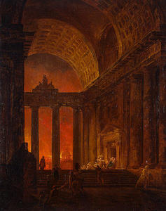 Hubert Robert - Fire