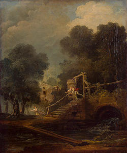 Hubert Robert - Flight of Galatea