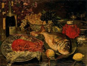 Ignacio Díaz Olano - Christmas still life with fish