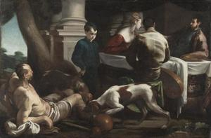 Jacopo Bassano (Jacopo Da Ponte) - Lazarus and the Rich Man