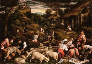 Jacopo Bassano (Jacopo Da.. - Summer (Sacrifice of Isaa..