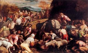 Jacopo Bassano (Jacopo Da Ponte) - The journey of Moses