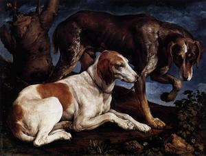 Jacopo Bassano (Jacopo Da.. - Two Hounds