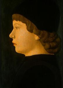 Jacopo Bellini - Profile Portrait of a Boy