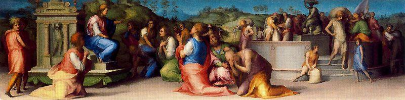 Joseph`s Broders beg for Help by Jacopo Carucci (Pontormo) (1494-1557, Italy) | Museum Quality Copies Jacopo Carucci (Pontormo) | ArtsDot.com
