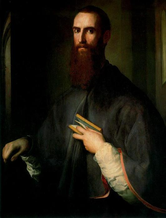 Portrait of Niccolò Ardinghelli by Jacopo Carucci (Pontormo) (1494-1557, Italy) | Paintings Reproductions Jacopo Carucci (Pontormo) | ArtsDot.com