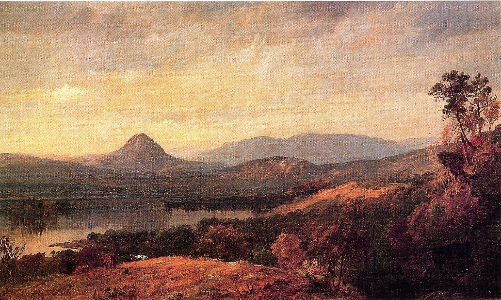 Adam and Eve Mountains by Jasper Francis Cropsey (1823-1900, United States) | ArtsDot.com