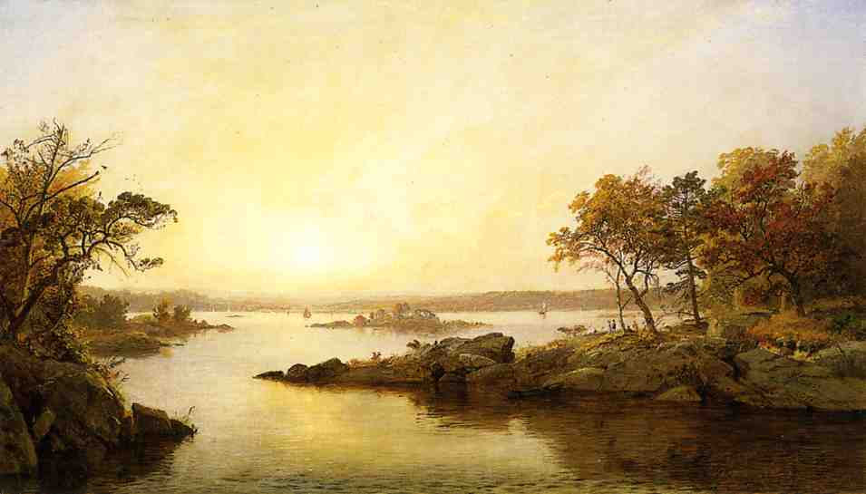 Afternoon at Greenwood Lake by Jasper Francis Cropsey (1823-1900, United States)
